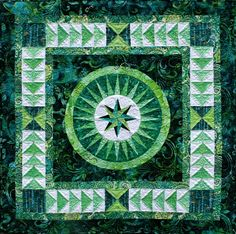 """Happiness"", 30 x 30"", quilt pattern by Jacqueline de Jonge 
