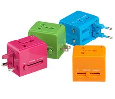 Universal Travel Adapters: Give your friend planning a trip abroad the gift of electricity with these universal travel adapters ($23 each). Their fun, bright colors will prevent them from getting lost in luggage.  — Michelle Manning, editorial assistant