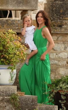 Crown Princess Mary of Denmark and Princess Josephine of Denmark attend a photocall at Chateau de Cayx, 11.06.2014 in Luzech, France.