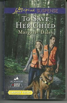 Product Details  • Title: To Save Her Child • Author: Margaret Daley • Series: Alaskan Search and Rescue Book 2 of 2   • Mass Market Paperback: 282 pages • Publisher:  Love Inspired Large Print Edition (February 3, 2015) • Language: English • ISBN-10: 037367659X  • ISBN-13: 978-0373676590  • Product Dimensions:  4.2 x 0.8 x 6.6 inches  •Condition: Very Good, no markings, tears, or rips. Tight Binding, soft cover shows some minor wear, Read Once and stored