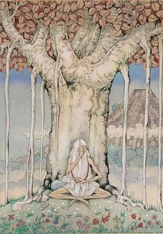 The Arabian Nights - The 776st night: the story of Farizad with the rose smile; The old man under the tree. Illustration by Anton Pieck