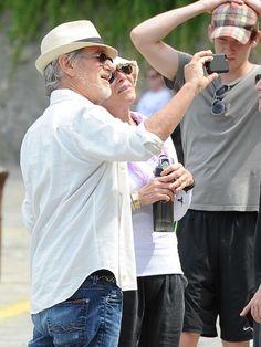 Portofino World: Steven Spielberg with family in Portofino, Italy. A World apart. Santa Margherita Ligure, Portofino Italy, Big Town, Steven Spielberg, World Famous, Letting Go, Panama Hat, Mens Tops, Magic