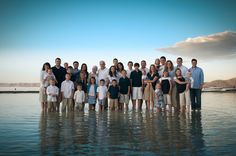 family photo idea - we WILL do this in June! I was planning to ask everyone to dress in khaki-white-light blue for a family pic. I thought the light colors will blend in with the beach and water.
