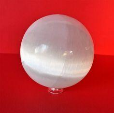 Selenite Crystal Sphere – RED Wholistic