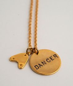 3c3e053bb8b For the Tap Dancer in your life! This fun necklace comes gold-plated and. Covet  Dance