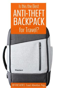 Looking for the best anti-theft backpack for travel (and daily life)? We have put the Standard Luggage Daily daypack to the test on planes trains busses bikes beaches and more! Here's what we think of this theft proof backpack. Travel Gifts, Travel Bags, Backpacks For Travel, Journey Pictures, Trains, Anti Theft Backpack, Packing List For Travel, Best Backpack For Travel, Packing Lists