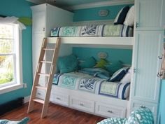 Like the storage on each side, but would need some railings so the girls don't fall out of bed