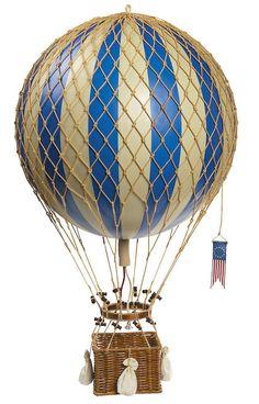 "Blue Royal Aero Hot Air Balloon Authentic Model Hanging Aviation Decor Large 13"" #AuthenticModels #AviationAircraftHomeDecor"