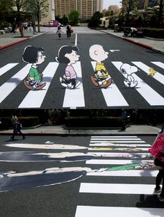Snoopy 3D art | 10 Street Art Designs - Tinyme Blog