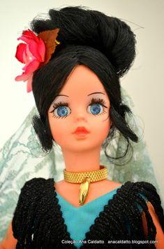 Ana Caldatto : Boneca Susi Espanhola Vestido Azul de 1972 / 73