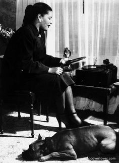 Billie Holliday and her doggie Mister...