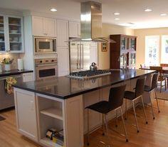 Superb white kitchen with espresso caesarstone Kitchen Countertop Installation Espresso