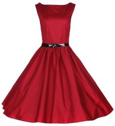 Amazon.com: Lindy Bop Classy Vintage Audrey Hepburn Style 1950's Rockabilly Swing Evening Dress: Clothing