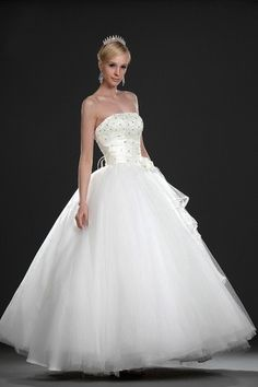 Inverted Triangle Thin Church Princess Lace Winter Flowers Spring Tulle Overlay Lace-up Wedding Dress