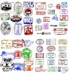 passport stamp vector