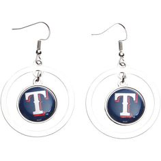 Texas Rangers Women's Iron Man Marvel Hoop Earrings - $7.19