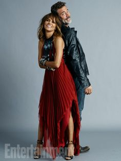 Halle Berry and Jeffrey Dean Morgan, 'Extant' #EWComicCon  Image Credit: Michael Muller for EW