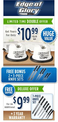 Order Your Edge of Glory™ Knife Sharpener Today!