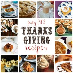 40 Thanksgiving Treats and Sides #thanksgiving #recipes