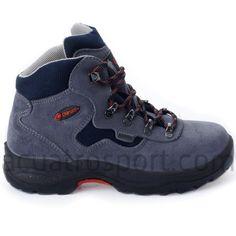 Botas Chiruca para montaña modelo urbasa en colores gris y azul para niño.   Membrana impermeable GORE-TEX, que garantiza mantener tus pies secos impidiendo que pase el agua, con una perfecta transpiración y control de la humedad.   Chasis ligero que maximiza el control de la tracción, la gestión de la energía y ofrece una gran protección, respuesta y estabilidad. New Chic, Unisex, Gore Tex, Hiking Boots, Mens Fashion, Control, Kid, Shoes, Templates