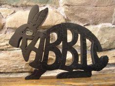 bunny puzzle/sculpture