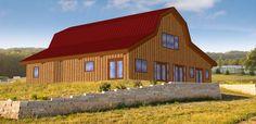 Pre-designed Barn Home Great Plains Gambrel Barn 3D Model 2,853sq. ft. rendering
