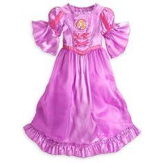 Sleepwear 99735: Disney Store Princess Tangled Rapunzel Nightgown Pajama Girl Size 5 6 -> BUY IT NOW ONLY: $59.99 on eBay!