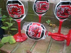 gamecock wine glasses