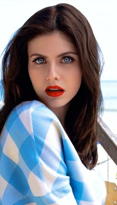 Alexandra Daddario. She's got the most gorgeous eyes. Not just the color, the shape of them too.