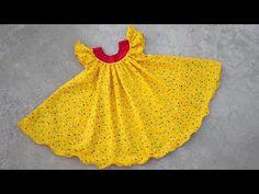 Girls Frock Design, Baby Dress Design, Kids Frocks Design, Baby Frocks Designs, Kids Dress Patterns, Baby Clothes Patterns, Skirt Patterns Sewing, Clothing Patterns, Kids Dress Wear