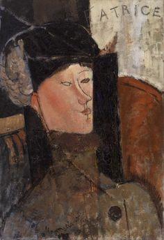 Amedeo Modigliani  Italian, 1884–1920  Béatrice (Portrait de Béatrice Hastings)    1916  Oil on canvas  21 5/8 x 15 3/16 in. (55 x 38.5 cm)  BF361