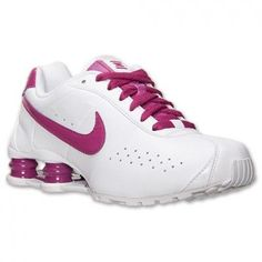 tenis nike shox rosa e branco realty