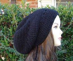 New to PurpleSageDesignz on Etsy: Black Tam Hippie long Dreadlock Dread snood beanie hat (22.00 USD)