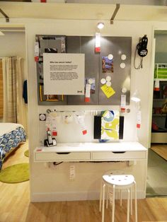 Organizing Ideas from IKEA. I could imagine this as a kid workspace (picture by poppytalk)