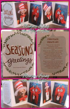 GIVEAWAY ~ The Dr. Seuss Themed Photo Christmas Cards We're Sending This Year ~ ARV $40