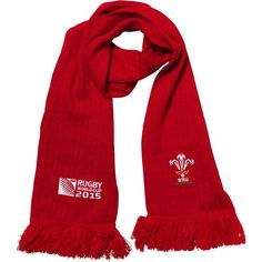 Wales - Rugby WC 2015 Scarf CYMRU Ideal Gift for all Rugby Fans Scarf Dimensions x approx Brand New with Tags - Header Card Official Wales Rugby, Rugby World Cup, Irb Rugby, Flag, Cymru, Brand New, Header, Red