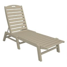 Plastic Wood Nautical Chaise Lounge Stackable $429.99