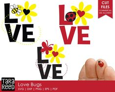Love Bugs / Love svg bundle / Valentines Day svg bundle / svg