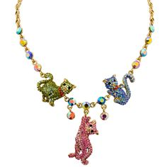 Crystal playing cats necklace by Butler & Wilson.