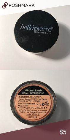 Bella Pierre Mineral Blush NEVER USED. it has been opened but never used on my face or swatched. Bella Pierre Makeup Blush