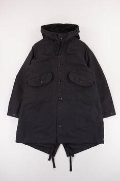 Engineered Garments Black Cotton Double Cloth Highland Parka