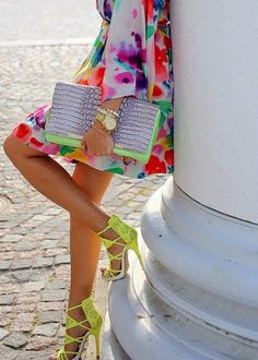 Bright neons #style #accessories #fashion #ootd #summer