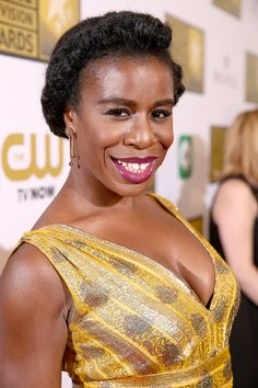 Our favorite natural-haired character on Orange Is the New Black, Uzo Aduba has been making the red carpet rounds in the most intricate updos, giving us new formal styling ideas.