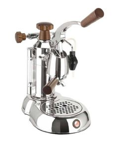 La Pavoni PSW-16 Stradavari 16-Cup Espresso Machine, Chrome with Wood Handles by La Pavoni. $1169.00. Measures 16-1/4 by 4-1/2 by 12 inches; 1-year warranty. Lever-model espresso machine makes up to 16 2-ounce cups of espresso. Recessed power switch; reset safety fuse. Design inspiration drawn from world-famous violin-maker Antonio Stradavari. 38-ounce nickel-plated brass boiler; internal thermostat; dual frothing cappuccino systems. The La Pavoni Stradavari sixteen c...