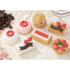 Iwako Japanese Erasers / Cakes and Pastry 7pcs. by Iwako. $4.98. The Iwako Pink Round Cake Japanese Eraser is a wonderful addition to your collection! Iwako Japanese Erasers are high quality, environmentally friendly lead free, recyclable, non toxic erasers. These wonderful Iwako erasers are not made from PVC and are manufactured in Japan. Kids and adults both love the Iwako erasers! Most of the Japanese erasers can be taken apart and reassembled making them even more fun...