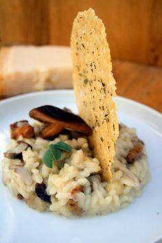 Amapola, el mundo en un plato: Risotto de setas con chip de parmesano