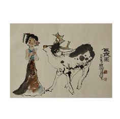 (12AA) A Chinese Painting of Deer (Cheng Shifa Mark) n\ / MAD on Collections - Browse and find over 10,000 categories of collectables from around the world - antiques, stamps, coins, memorabilia, art, bottles, jewellery, furniture, medals, toys and more at madoncollections.com. Free to view - Free to Register - Visit today. #DecorativeArts #Asian #MADonCollections #MADonC