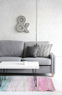 One Material, Two DIYs | Cotton Rag Rug | I SPY DIY