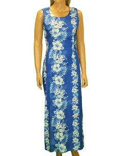 Royal Blue Long Tank Strap Dress Haku Laape