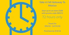 72 Hours Only: Take A Fall Getaway To Mexico - https://traveloni.com/vacation-deals/72-hours-take-fall-getaway-mexico/ #vacation #mexico #funjet72hoursale